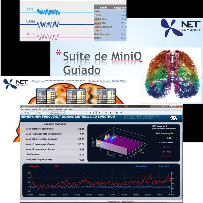 Suite de MiniQ para realización de mapeos cerebrales para Procomp Infinity o 5